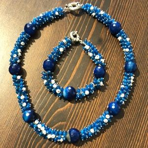 Jewelry - Spiked Beads Necklace and  Bracelet Set